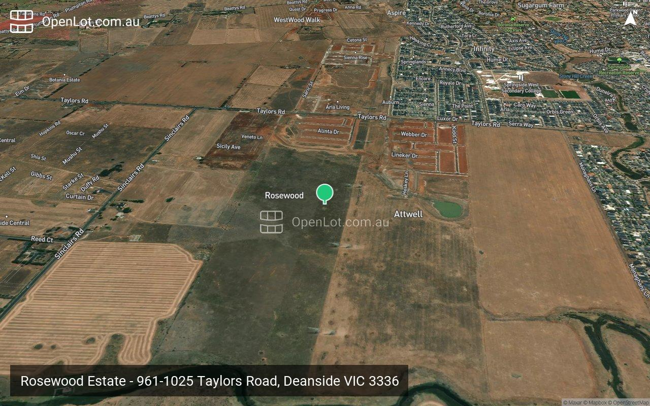 Satellite image for Rosewood Estate - 961-1025 Taylors Road, Deanside VIC 3336