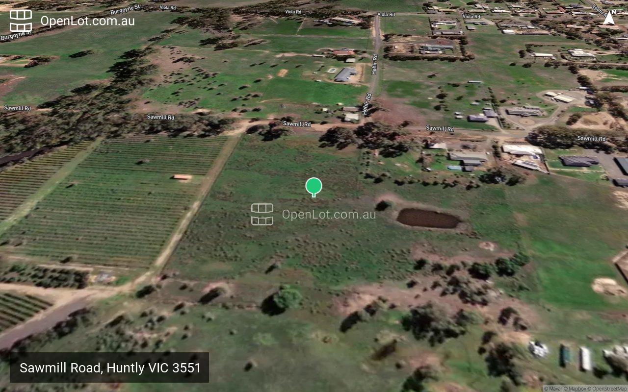 Satellite image for Sawmill Road, Huntly VIC 3551