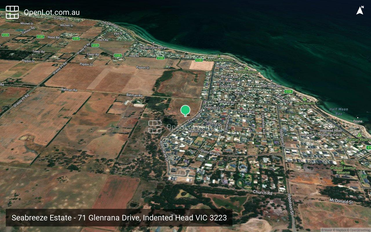 Satellite image for Seabreeze Estate - 71 Glenrana Drive, Indented Head VIC 3223