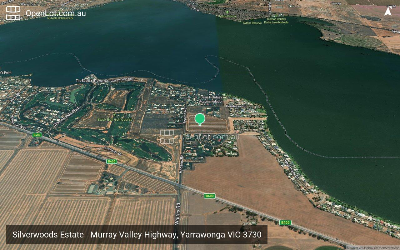 Satellite image for Silverwoods Estate - Murray Valley Highway, Yarrawonga VIC 3730