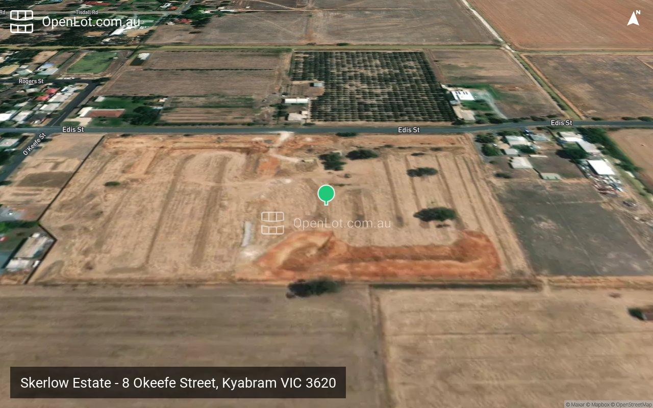 Satellite image for Skerlow Estate - 8 Okeefe Street, Kyabram VIC 3620