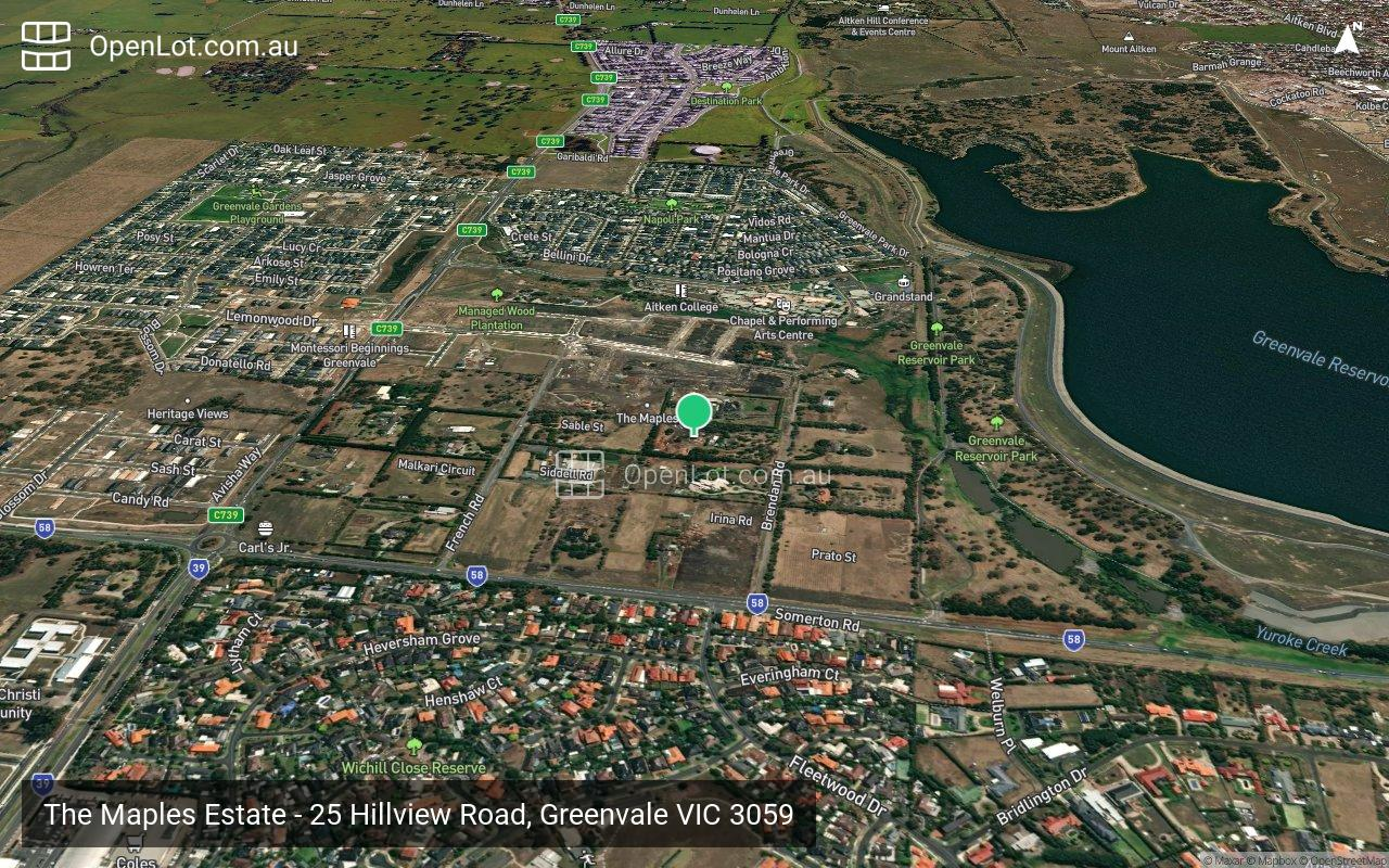 Satellite image for The Maples Estate - 25 Hillview Road, Greenvale VIC 3059