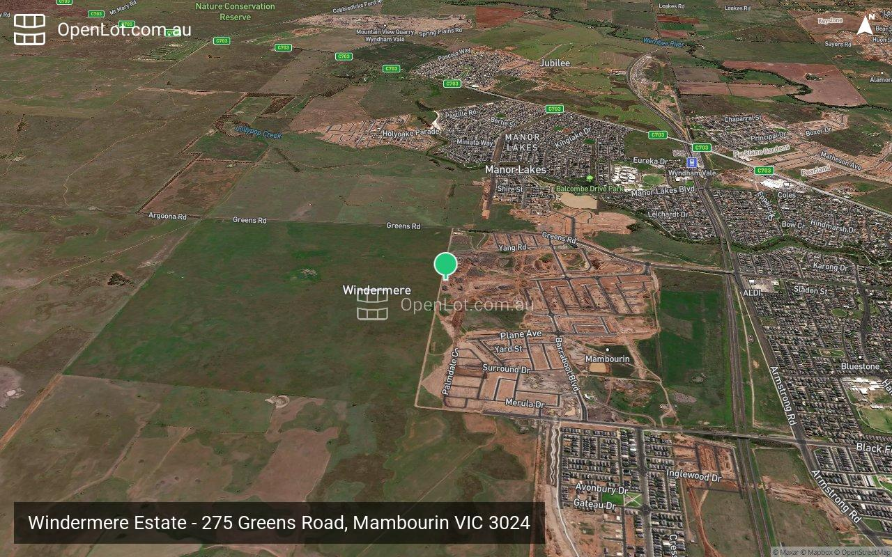 Satellite image for Windermere Estate - 275 Greens Road, Mambourin VIC 3024